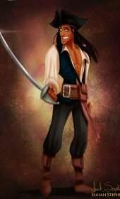 Príncipe Naveen como Jack Sparrow