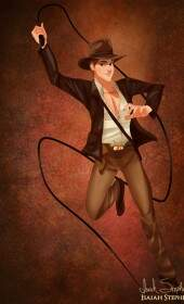 Prince Phillip como Indiana Jones
