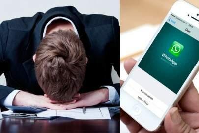 Aumenta o número de demissões… Por conta do WhatsApp