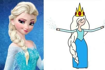 """E se as princesas da Disney fossem do universo de """"Hora da Aventura""""?"""