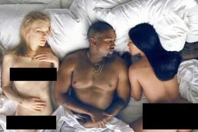 """Kanye West lança clipe polêmico de """"Famous"""" com celebridades nuas"""