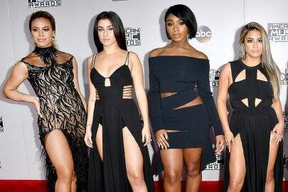 LOS ANGELES, CA - NOVEMBER 20:  (L-R) Dinah Jane Hansen, Lauren Jauregui, Normani Hamilton, Ally Brooke, and Camila Cabello of Fifth Harmony attend the 2016 American Music Awards at Microsoft Theater on November 20, 2016 in Los Angeles, California.  (Photo by Steve Granitz/WireImage)