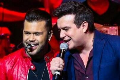 """""""Não me deixam em paz"""", diz Marcos, da dupla Marcos & Belutti, sobre imitação da cantora Joelma"""