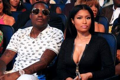 LOS ANGELES, CA - JUNE 28:  Recording artists Meek Mill (C) and Nicki Minaj attend the 2015 BET Awards at the Microsoft Theater on June 28, 2015 in Los Angeles, California.  (Photo by Christopher Polk/BET/Getty Images for BET)