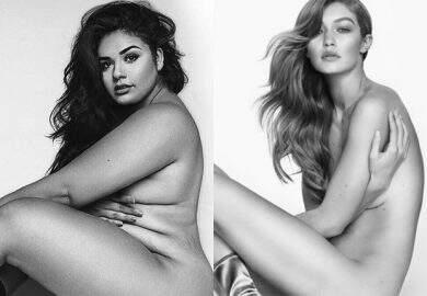 Modelo plus size recria ensaio sensual de Gigi Hadid e promove diversidade