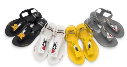 Marca lança sandálias inspiradas em personagens da Looney Tunes