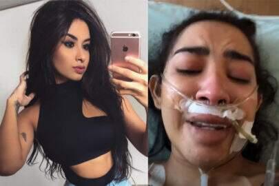 """Com câncer, blogueira Nara Almeira choca fãs ao divulgar fotos em UTI: """"Não desistir de viver"""""""