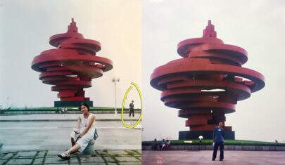 Casal descobre coincidência incrível em foto antiga viralizam na web