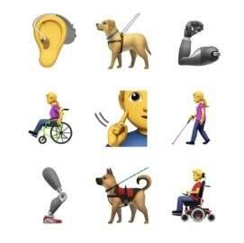 Apple propõe novos emojis pra representar pessoas com deficiência