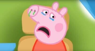 Você vai ficar perturbado ao ver como Peppa Pig é de frente
