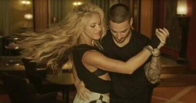 """Shakira e Maluma batem 2 bilhões de visualizações com """"Chantaje"""""""
