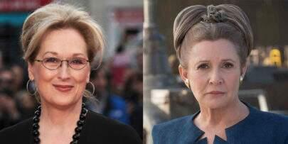"""Fãs querem que Meryl Streep substitua Carrie Fisher em """"Star Wars"""""""