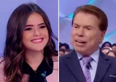 Maisa Silva pergunta quantas plásticas Silvio Santos fez e ele responde