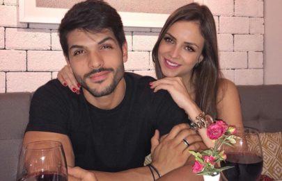 Após reatarem o noivado, Lucas Fernandes e Ana Lúcia Vilela têm noite romântica
