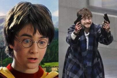 O que aconteceu, Harry Potter? Fotos de Daniel Radcliffe viram meme