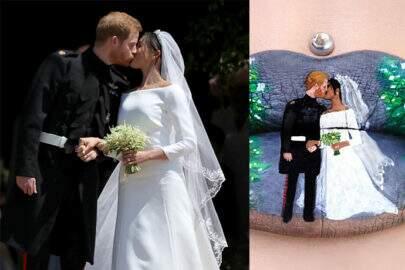 Beijo do casamento real vira arte incrível nos lábios de maquiadora