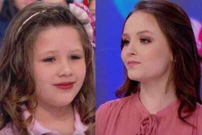 Sem saber que Larissa Manoela estava no palco, garota de 9 anos detona atriz