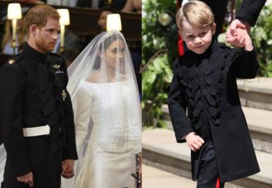 Não só Meghan quebrou protocolos em seu casamento, o pequeno George também