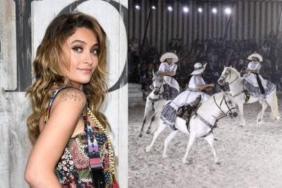 Paris Jackson abandona evento de moda ao ver cavalos no desfile