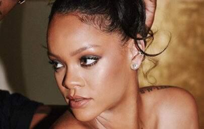 Tendência? Rihanna usa mini saia como cropped e inova no look