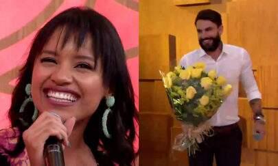"Wagner Santiago faz surpresa ao vivo para Gleici no ""Encontro"""