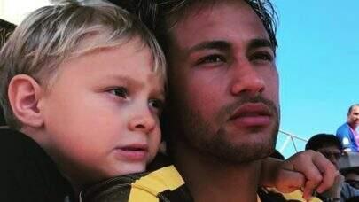 Filho do Neymar manda recado fofo para o pai após empate do Brasil