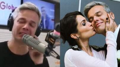 Otaviano Costa chora ao sair em defesa de Flávia Alessandra após polêmica