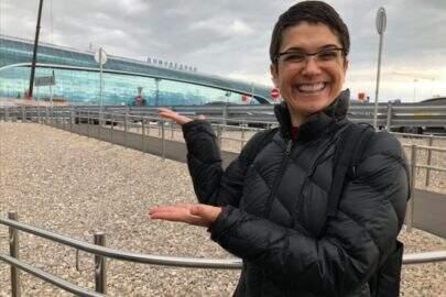 Empolgação de Sandra Annenberg por estar na Rússia viraliza nas redes socias
