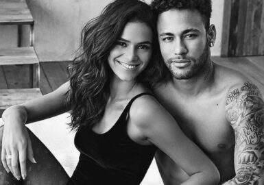 Fã usa brinco inspirado em Bruna e Neymar e atriz fica maravilhada