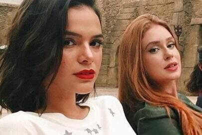 """Bruna Marquezine elogia Marina Ruy Barbosa em cena de briga: """"Ela é ótima em dar tapas"""""""