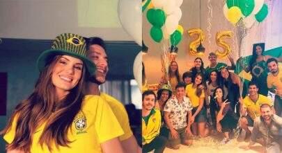 """Camila Queiroz celebra 25 anos e ganha festa surpresa: """"Copa Junina!"""""""