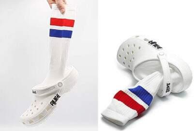 Novo modelo de Crocs já vem com a meia embutida