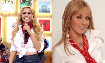 """Joelma vira piada por escolha de look no """"Encontro"""" e é comparada com """"RBD"""""""