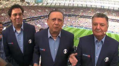 Arnaldo se aposenta ao vivo durante transmissão da Globo e faz Galvão chorar