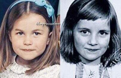 Fotos que comparam princesa Charlotte e Lady Di viralizam na web