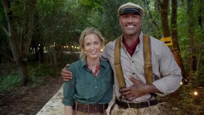 """Emily Blunt e The Rock anunciam início das gravações de """"Jungle Cruise"""""""