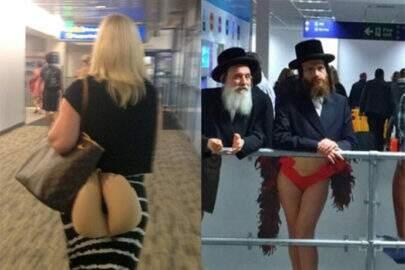 10 momentos bizarros flagrados em um aeroporto