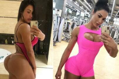 """Gracyanne Barbosa posa de topless e calcinha transparente: """"Ame você"""""""