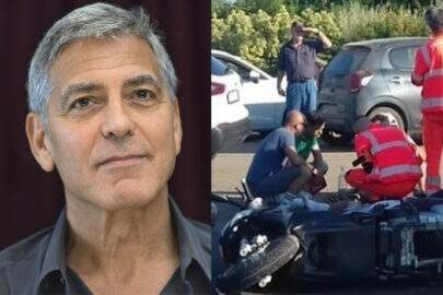 Vaza na internet vídeo do acidente de moto do ator George Clooney