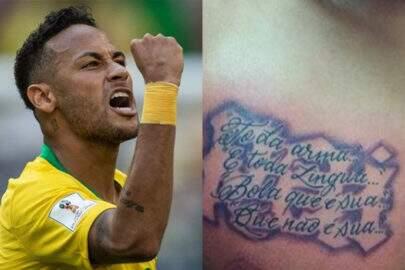Finalmente descobriram o que significa a tatuagem de Neymar