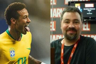 """Autor de """"Vingadores"""" especula reação de Neymar durante orgasmos com Bruna Marquezine"""