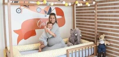Na reta final da gravidez, Andressa Suita mostra novo quarto para o primeiro filho