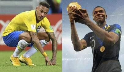 Após a Copa, Neymar sofre desvalorização no mercado e Mbappé cresce 44%