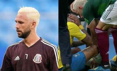"""Após jogo do Brasil, brasileiros """"invadem"""" Instagram de mexicano que deu """"pisão"""" em Neymar"""