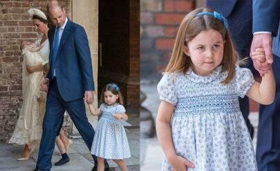 Princesa Charlotte rouba a cena mais uma vez em batizado do príncipe Louis