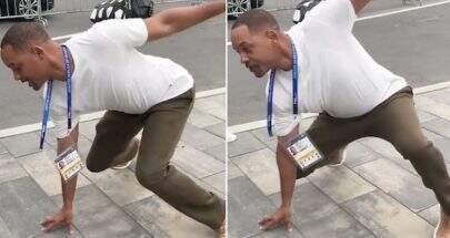 """Antes do encerramento da Copa, Will Smith faz """"duelo de passinhos"""" com Nicky Jam"""