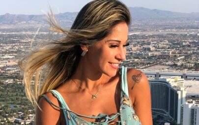 """Mayra Cardi celebra oito meses de gestação e fãs questionam: """"Cadê a barriga?"""""""