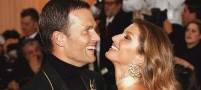 """Gisele Bündchen parabeniza Tom Brady pelo aniversário e se declara: """"Continue brilhando"""""""