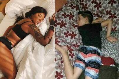 Após ter foto dormindo de calcinha e sutiã divulgada por sua mãe, Ludmilla vira meme