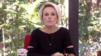 """Ana Maria Braga chora ao anunciar morte de funcionário do """"Mais Você"""""""